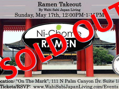 SOLD OUT-Ramen Takeout @ On The Mark PS, Sun, 5/17 12:00PM-1:15PM (PRE ORDER ONLY)