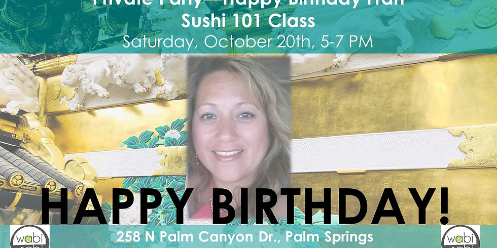 PRIVATE PARTY-Japan Class Series: Sushi 101, Sat 10/20/18