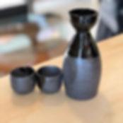 sake carafe, sake cups