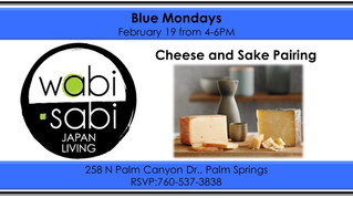 Blue Mondays - Sake & Cheese Pairing February 19, 2018