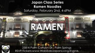 Japan Class Series - Ramen 101, February 2, 2019
