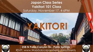 Japan Class Series - Yakitori 101, November 17, 2018