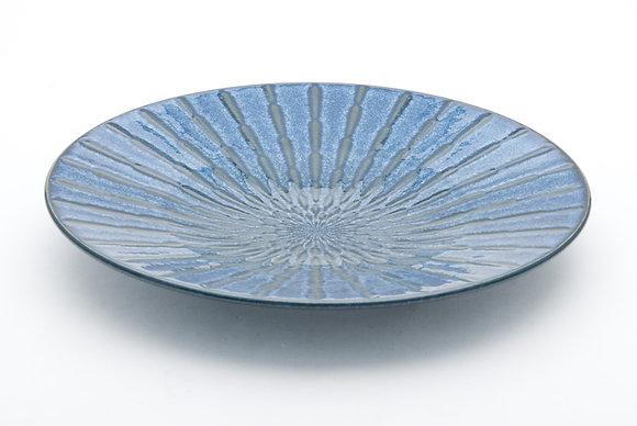 """Radial Blue Platter (12"""" x 1.5"""")"""