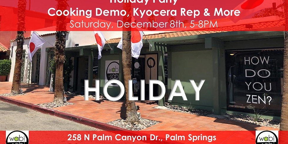 Holiday Party: Cooking Demo, Kyocera Rep & More!