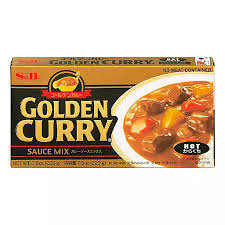 S&B Golden Curry Sauce Mix HOT 7.8oz (12 cubes)