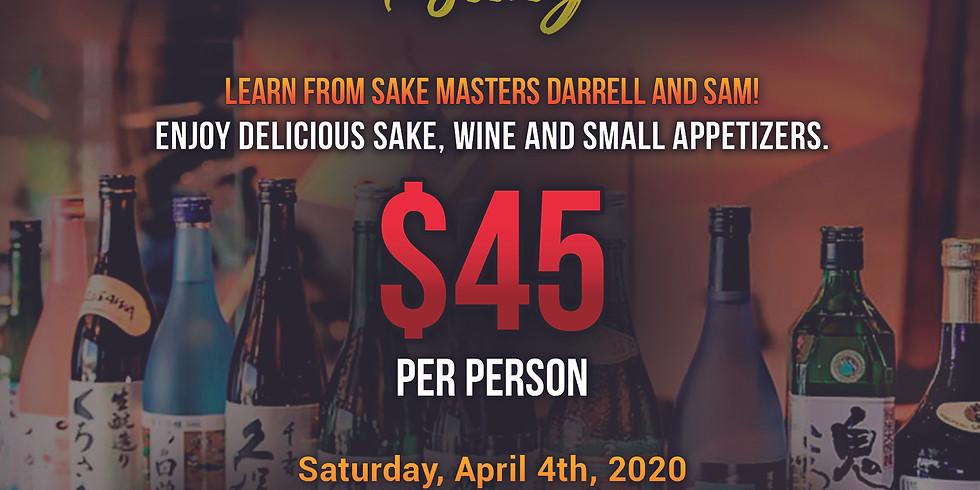 Sake & Wine Tasting/Pairing Sat 4/4/20 6-8PM