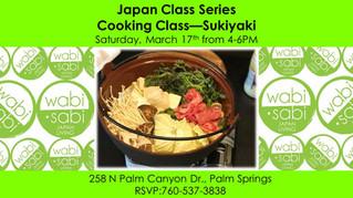 Japan Class Series - Sukiyaki March 17, 2018