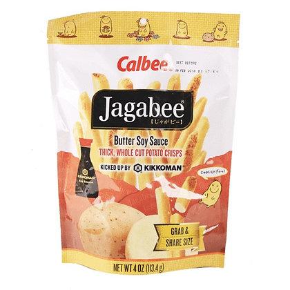 Calbee Jagabee Butter Soy Sauce Potato Crisps