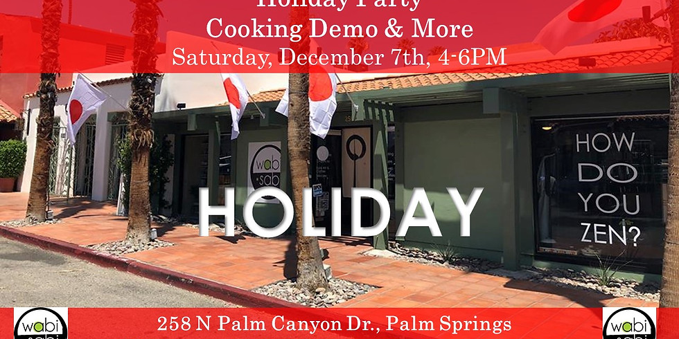 Holiday Party: Cooking Demo, Knife Table & More! Sat 12/7 4-6PM