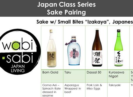 "Japan Class Series - Sake Pairing, ""Izakaya"" AKA Japanese Tapas, February 23, 2019"