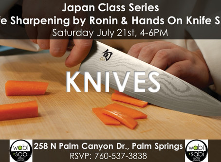 Japan Class Series - Knife Sharpening by Ronin Edge & Hands On Knife Skills  July 21, 2018