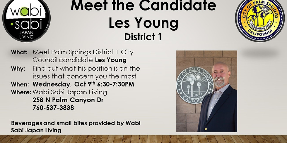 Meet the Candidate - Les Young - Wed 10/9 6:30-7:30PM