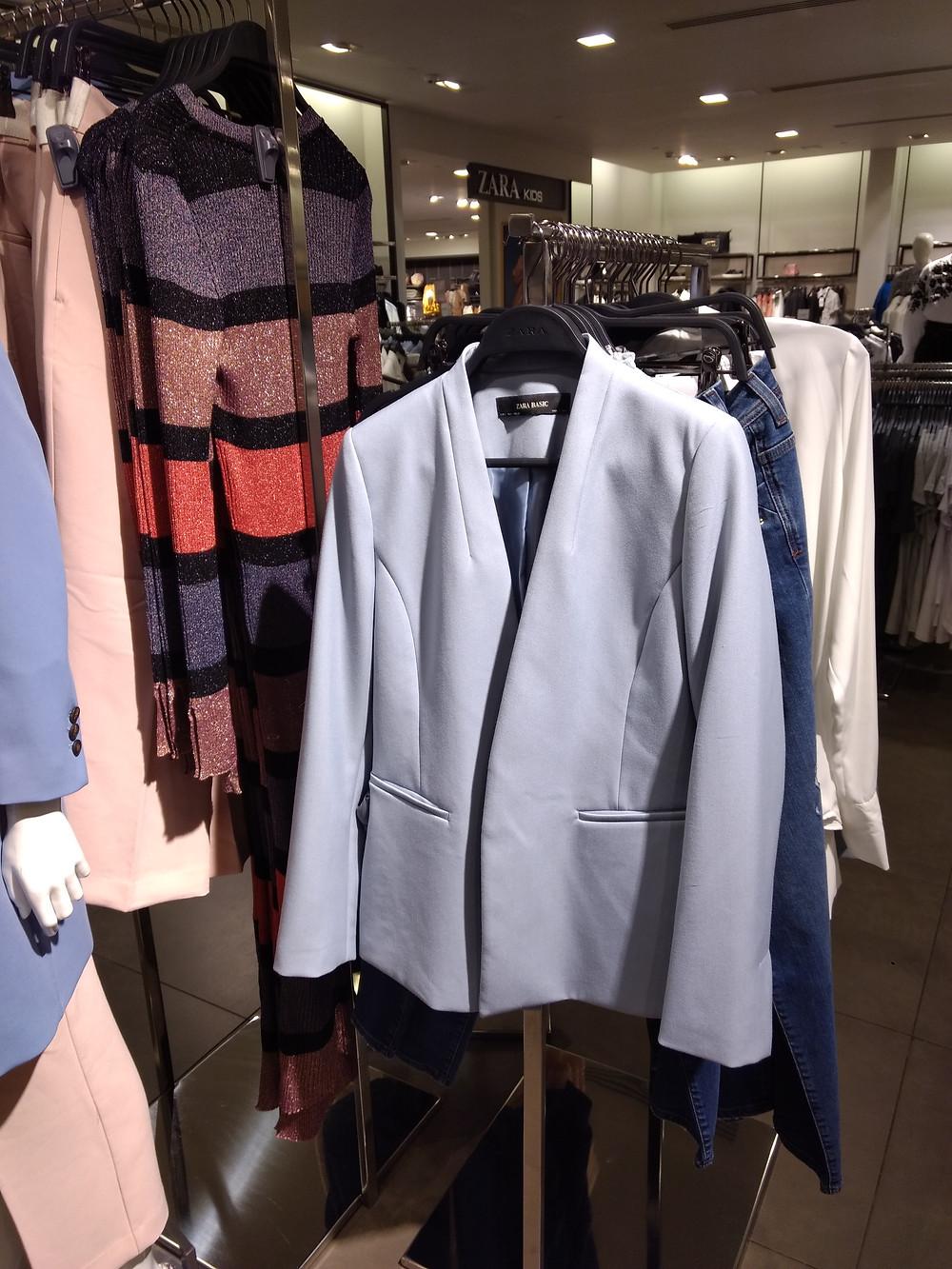 Roupas no inverno na Zara