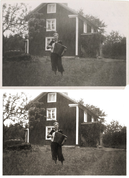 Accordion Boy and Farmhouse