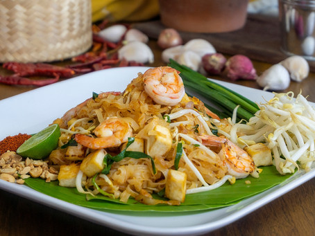 Pad Thai mit Garnelen
