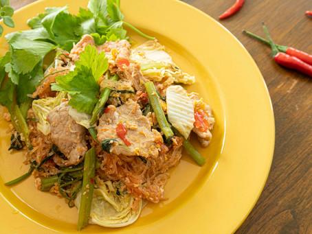 Thai Sukiyaki StirFry - die trockene Variante des japanischen Hotpot
