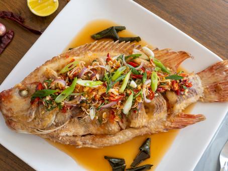 Pla Tab Tim Tawd - Kuspriger Fisch mit Chilisauce