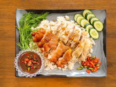 Khao Man Gai - Reis mit Hühnchen im Reiskocher
