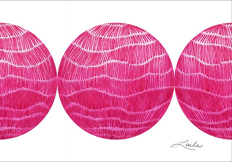 Pink World (small) triptych