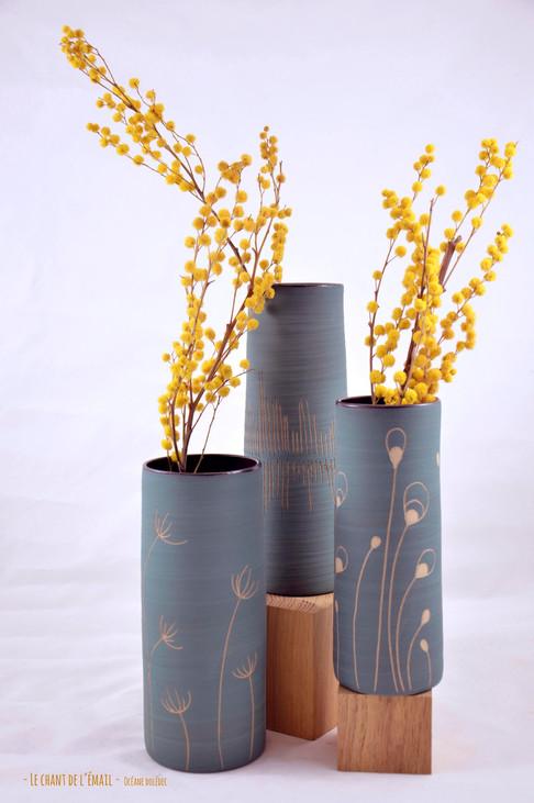 Vases sgraffités
