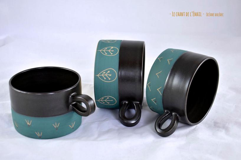 Tasses gourmandes - motifs folk