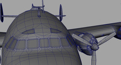 Cockpit, wireframe detail