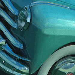 hand-painted headlamp lens detail