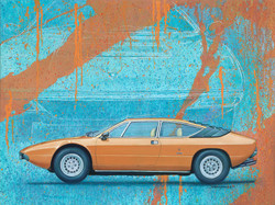 Lamborghini Urraco oil painting