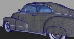 Wireframe on shaded model