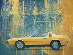 Alfa Romeo Montreal oil painting