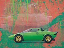 Lancia Stratos oil painting