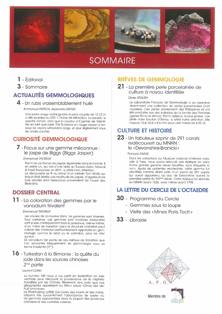 Sommaire n°191