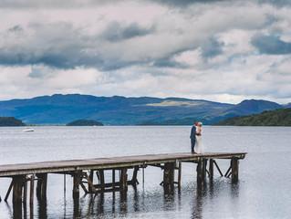 Amy and Loic's Loch Lomond Wedding with a French Twist