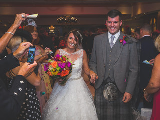 Andrew and Gillian's summer equestrian wedding