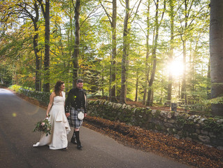 Scott and Tracey's intimate October Wedding
