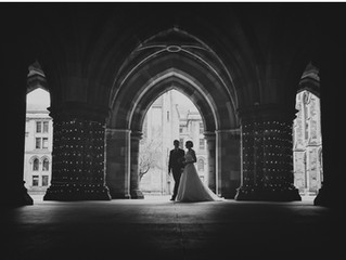 Ruth and Andrew tie the knot at Glasgow University