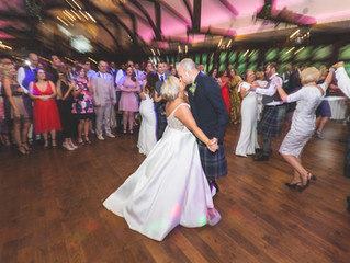 Caitlin and Stuart's summery wedding at Crossbasket Castle