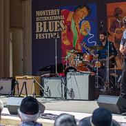 At the Monterey International Blues Festival with Kyle Rowland