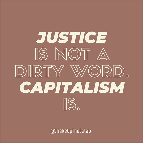 Justice Is Not A Dirty Word Sticker