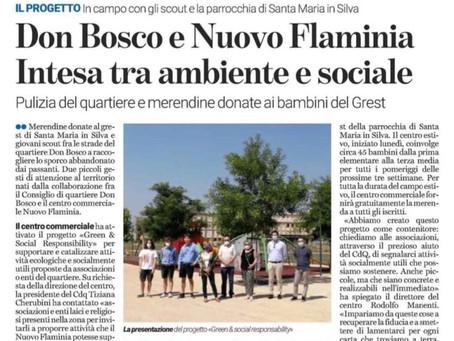 Responsabilità verde e sociale: un progetto con Cdq e Nuovo Flaminia