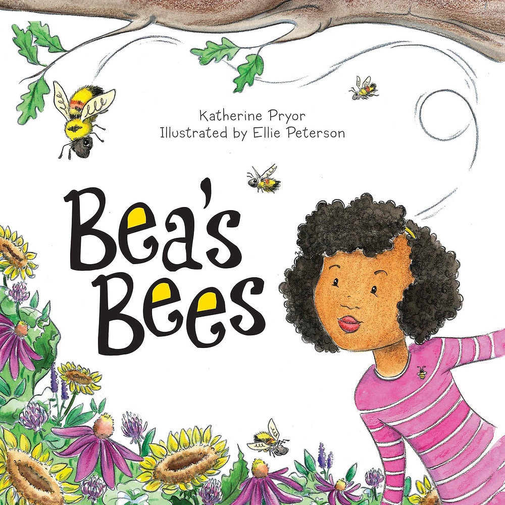 Cover of Bea's Bees with a young Black girl looking at a flower garden