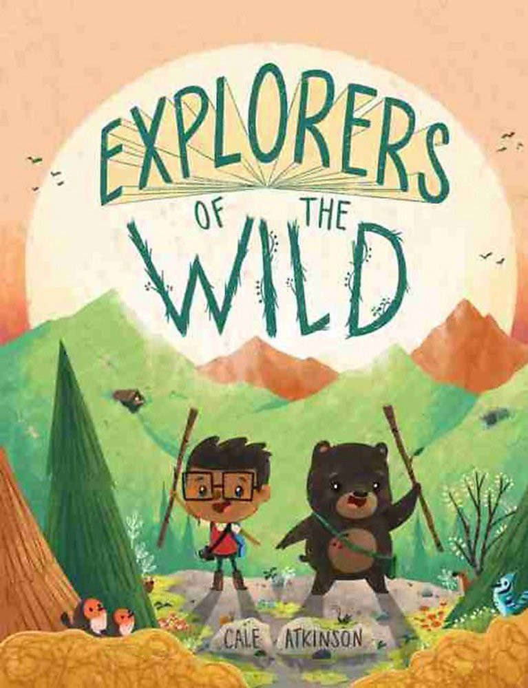 Cover of Explorers of the Wild with a young brown-skinned boy and a bear against a mountain landscape