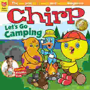"""Cover of Chirp Magazine """"Let's Go Camping"""" issue"""