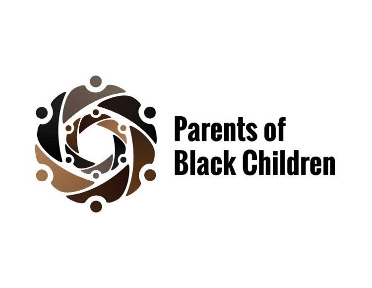 circular logo of adults encircling children with the text Parents of Black Children