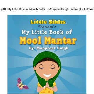 Sikhism - My Little Book of Mool Mantar.