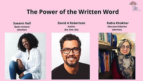 Website Promo Power of the Writen Word J