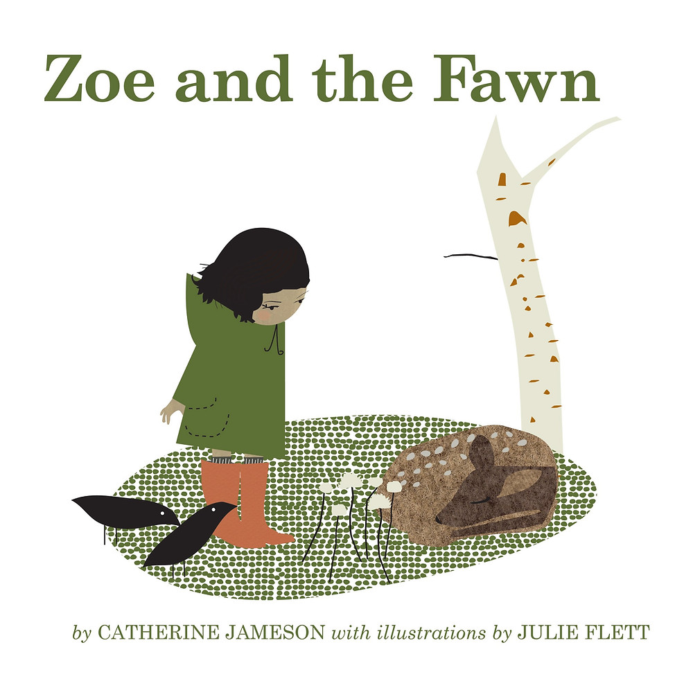 Cover of Zoe and the Fawn, a young girl near a sleeping fawn