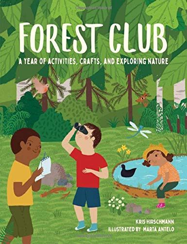 Cover of Forest Club with three children of different races exploring the forest