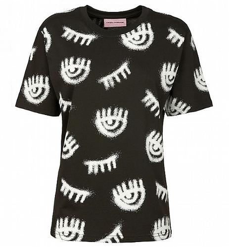 CHIARA FERRAGNI T-Shirt manica corta Logomania Spray