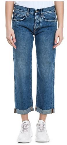ROY ROGER'S Jeans lavaggio medio boyfriend con risvolta